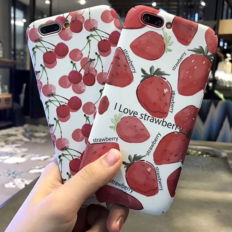 Ultra Thin Cool Summer New Watercolor Painting Fruit Stawberry Cherry Pineapple Plastic PC Fitted Case For VIVO V5 Lite Y66