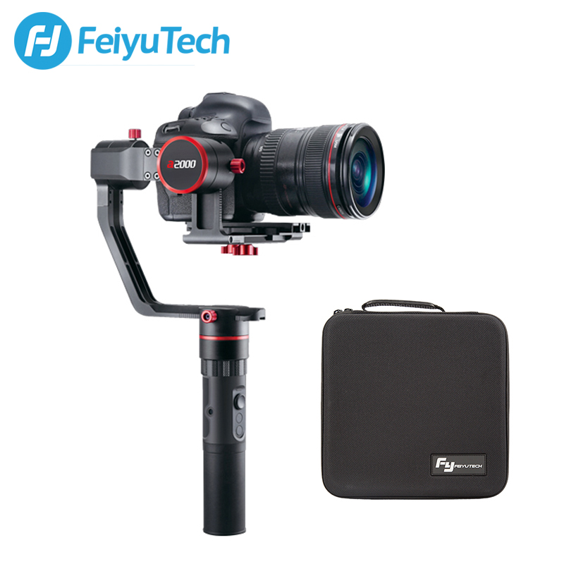 FeiyuTech a2000 Gimbal DSLR Mirrorless Camera Stabilizer Dual Handheld Grip for Canon Nikon SONY