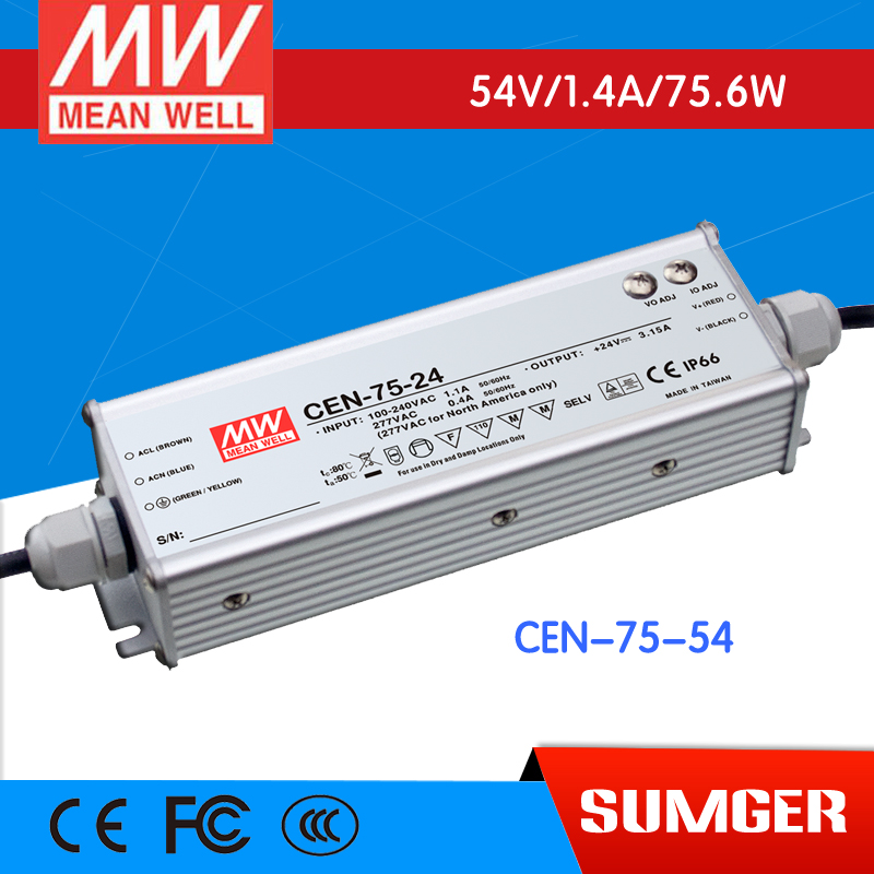 1MEAN WELL original CEN-75-54 54V 1.4A meanwell CEN-75 54V 75.6W Single Output LED Power Supply