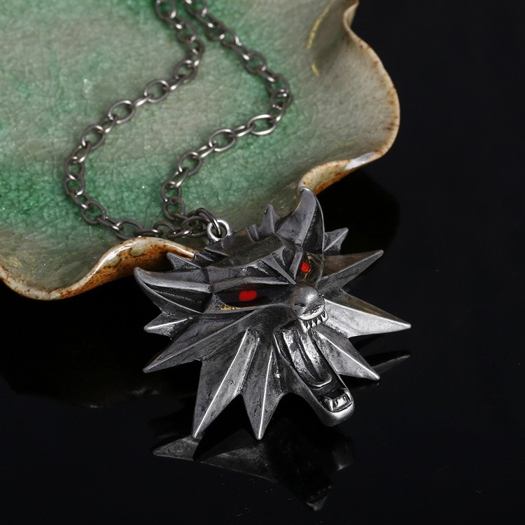 0418afe443 Hot Sale The Witcher 3 Wild Hunt Medallion Pendant and Chain Necklace For  Women Man Unisex
