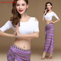 Belly Dance costumes Women BellyDance suit Top+Sexy kick pleat skirt 2pcs set for lady/Girls Belly Dance competition colthing