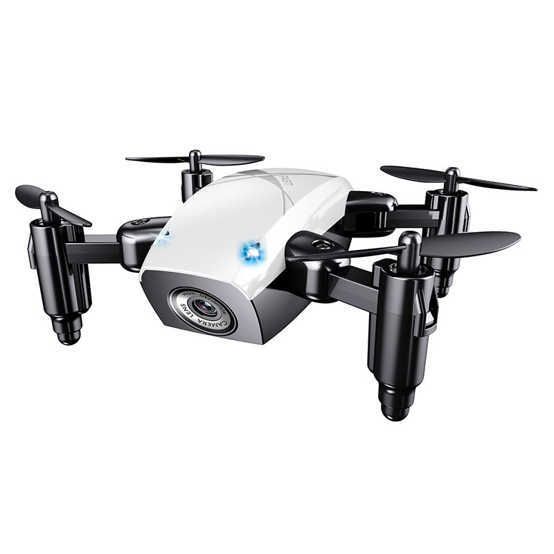 Global Drone S9W Foldable Mini Wifi FPV Drone with Camera HD Headless Mode RC Helicopter Quadrocopter Pocket Dron VS JJRC H31