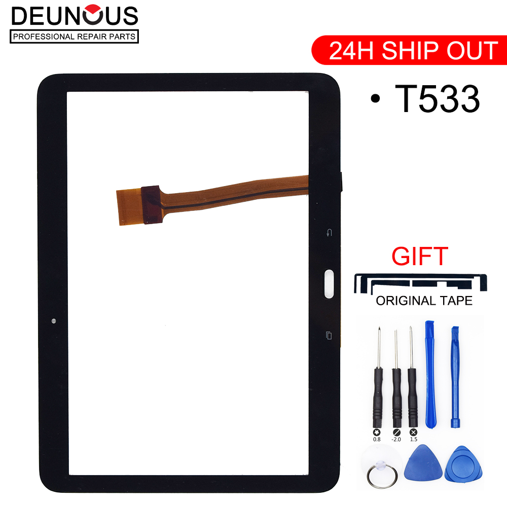 New For Samsung Galaxy Tab 4 10.1 2015 T533 SM-T533 Touch Panel Touch Screen Digitizer Glass Panels Tablet Replacement Parts