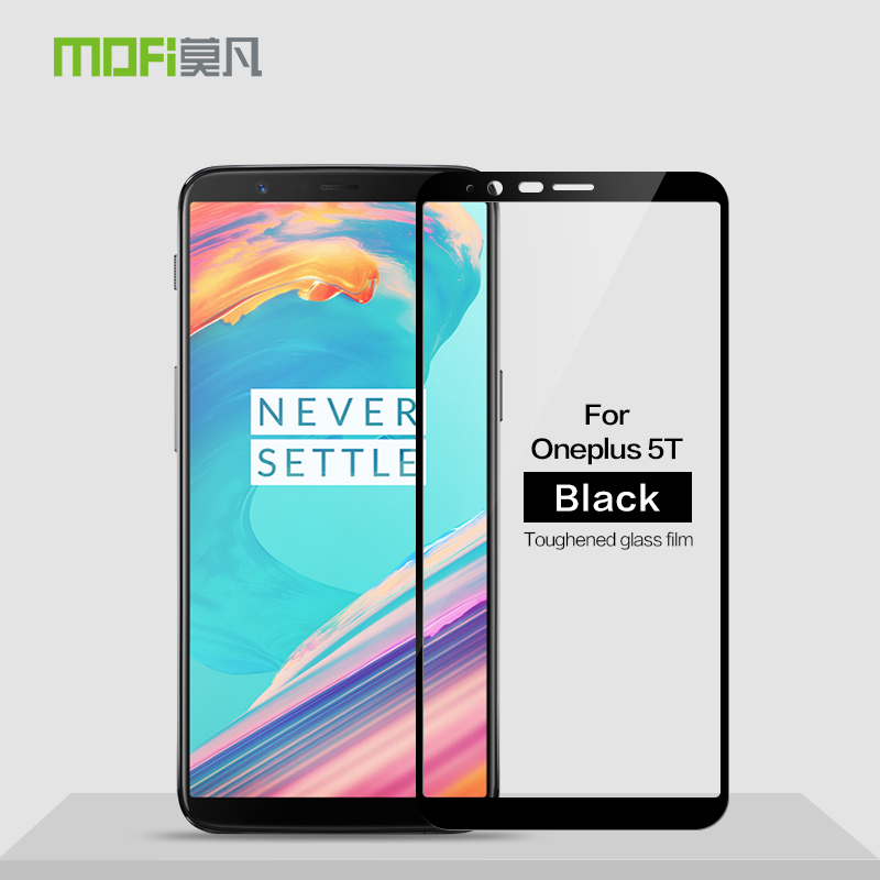 MOFi For Oneplus 5T Glass Tempered 3D Full Cover Tempered Glass For Oneplus 5T Screen Protector