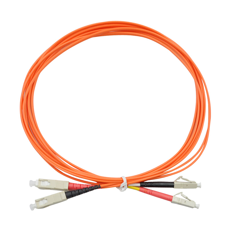 7 Meters LC-SC Fiber Optic Cable MultiMode Duplex Patch Cord OM2 50/125 7M
