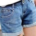 Демин шорты 2017 лето настольные шорты плюс размер женщин шорты джинсы джинсовая мода шорты feminino женский большой размер xxl 3xl 4xl