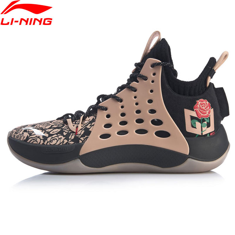 Li-Ning Men SONIC VII V2 ROSE CITY Professional Basketball Shoes CJ McCollum LIGHT FOAM LiNing Sport Sneakers ABAP077 XYL272(China)