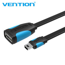 Vention Mini USB OTG Cable 0.1m 0.25m Male Mini USB to Female USB OTG Adapter For GPS Camera Mobile Phone Tablet U Disk Mouse(China)