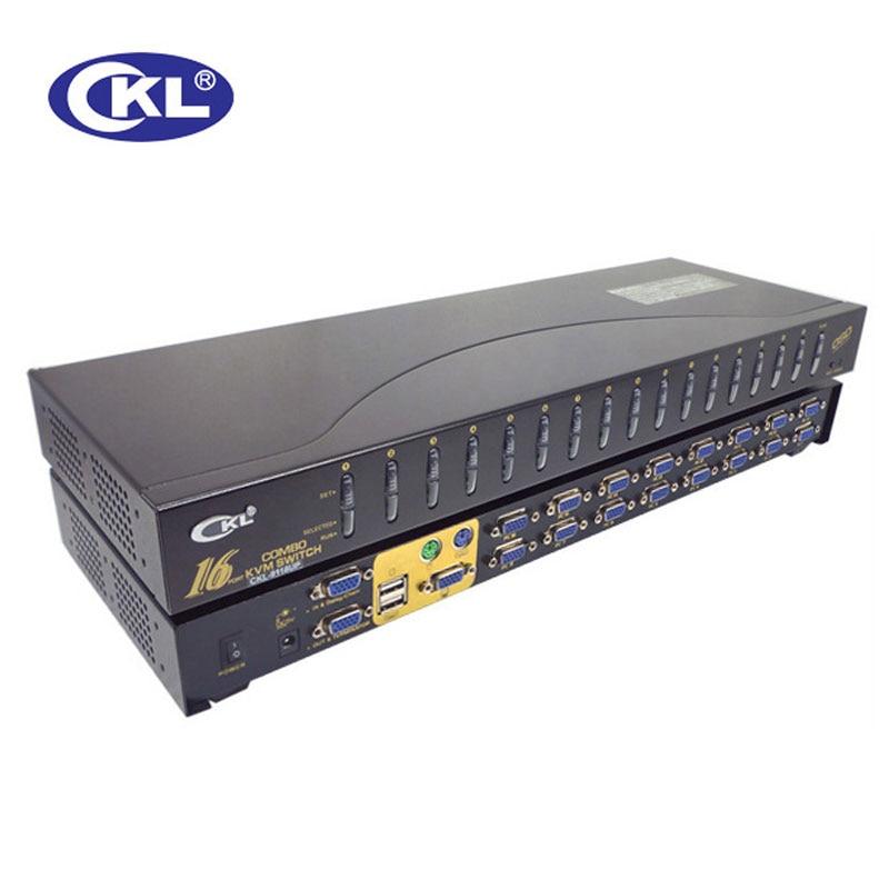 CKL USB PS/2 OSD VGA KVM Switch 16 Port Rackmount Switcher for PC Monitor Keyboard Mouse CCTV DVR CKL-9116UP ckl usb ps 2 osd vga kvm switch 16 port rackmount switcher for pc monitor keyboard mouse cctv dvr ckl 9116up
