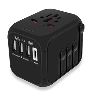 MAXAH Travel Adapter with 3 US