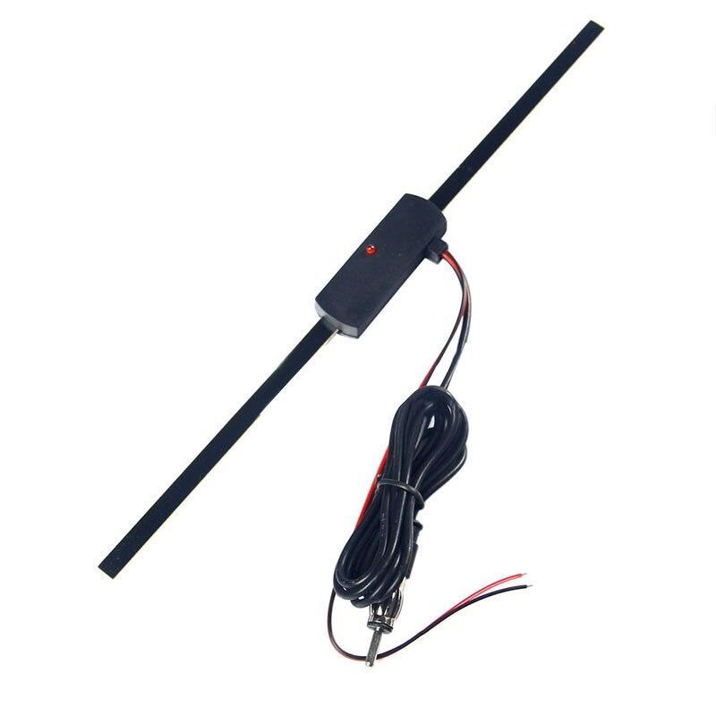 1pc numérique 12V électronique stéréo AM/FM antenne Radio 28x2x1cm noir Auto voiture amplifiée antenne chaude accessoires