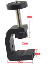 """Top quality Steel Clip 1/four""""UNC Screw Common Clamp For Digicam Tripod Flash Holder Bracket"""