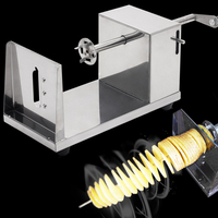 Stainless Steel Manual Tornado Potato Cutter Twisted Potatoes Slicer Spiral French Fries Cutting Chips Machine Hot