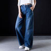 Plus size Wide leg jeans Women casual Bell Bottom Jeans High waist Full length trousers Boyfriend Baggy Flare Denim Pants C549