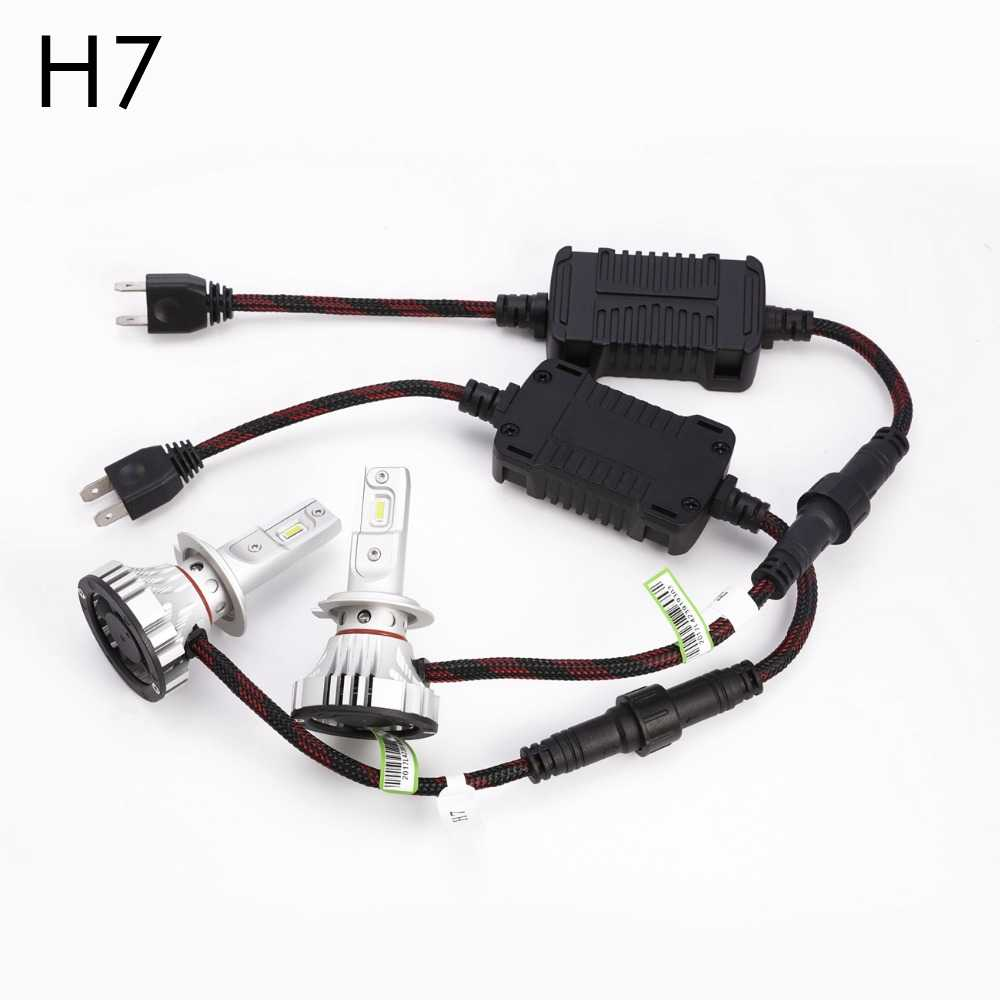 FSYLX New F2 H7 H11 Car LED Headlight Kit 72W 12000LM 9005 9006 H16  LED Car Headlights Bulb Automobile Fog Light h7 h11 hb3 led