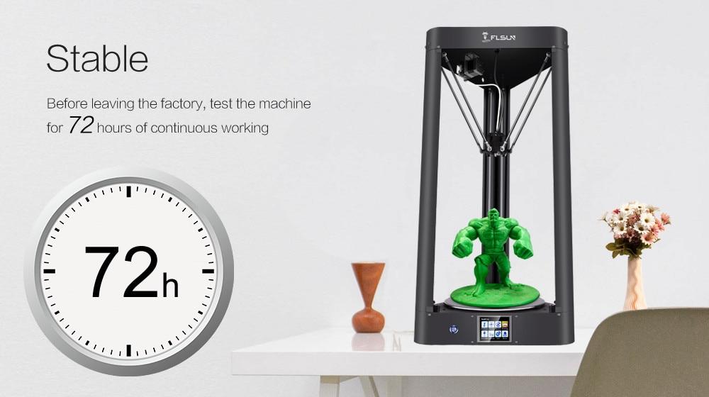 Flsun-QQ 3D принтер металла Рамки большой Размеры предварительная сборка авто-уровень flsun высокоскоростной принтер горячая кровать Сенсорный э...