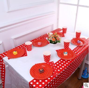 1 Stks/partij Stip Wegwerp Tafelkleed 108*180 Cm Wegwerp Tafelkleed Banket Tablecover Verjaardagsfeestje Levert Tablewares