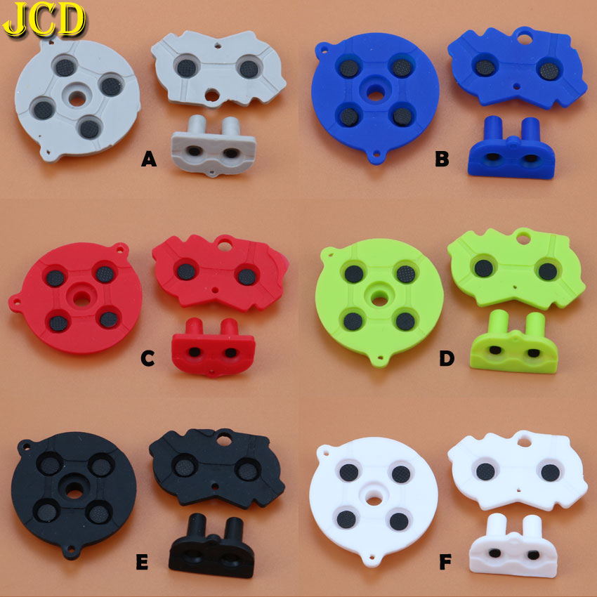 JCD 1Set Colorful Rubber Conductive Buttons A-B D-pad For Nintend GameBoy Advance GBA Silicone Conductive Start Select Keypad