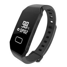 E02 SmartBand Bluetooth 4.0 IP65 Водонепроницаемый шагомер потребление калорий Приборы для измерения артериального давления Мониторы IP65 Водонепроницаемый Напульсники