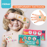 Mideer Kids Safety Waterproof Temporary Tattoos Stickers Baby Nail Sticker Arm Sticker Book Girl Boy Toys Gifts