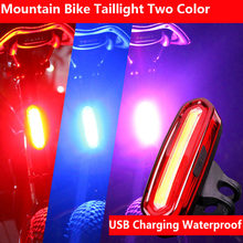 New Rechargeable LED USB Mountain Bike Tail Light Taillight Safety Warning Bicycle Rear Light Night riding COB warning lights(China)