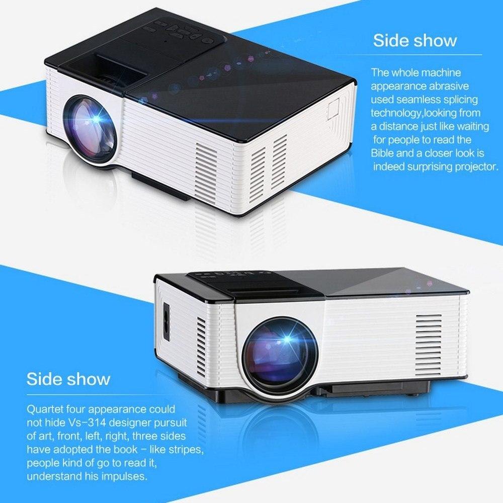 VS314 Mini Portable Projector 1500 Lumens 800 X 480 Pixels Theater Projector Support 1080P AV HDMI VGA 0.9-6m Home Media Player