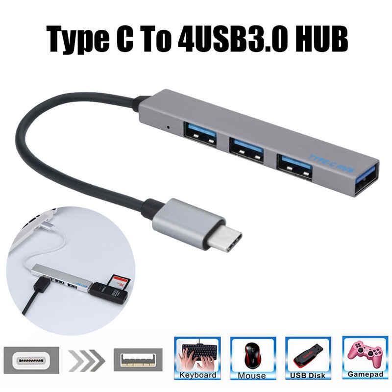 Expansor de Hub Usb tipo C a 4 Mini portátil ultrafino de 4 puertos Usb 3,0 Hub Usb interfaz de alimentación para Mac-Book Laptop Tablet Comput