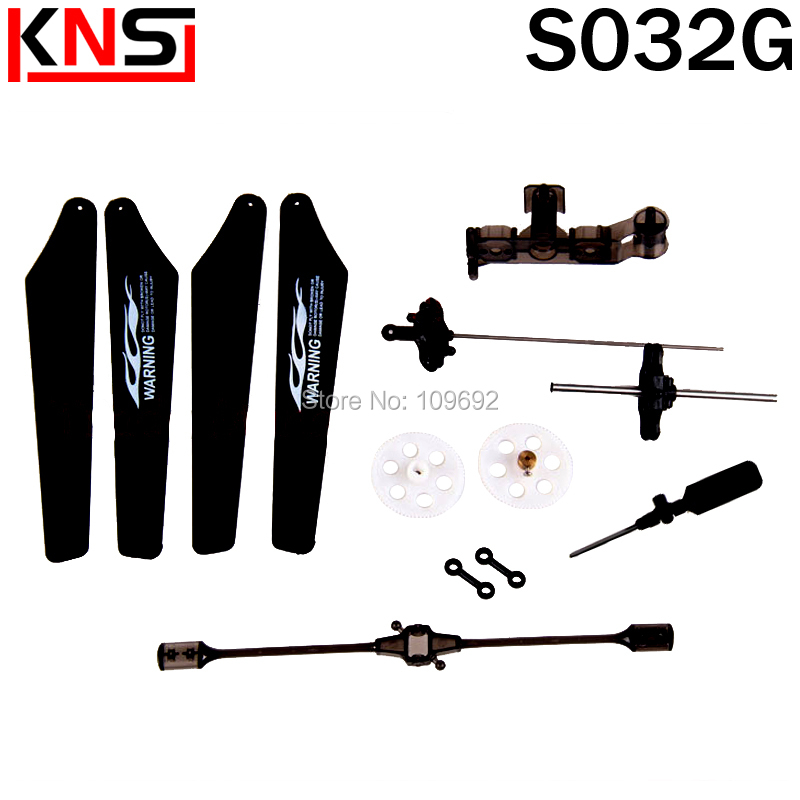 все цены на Free shipping SYMA S032 Main frame, landing gear, balance bar ect parts for SYMA S032G RC helicopter accessories