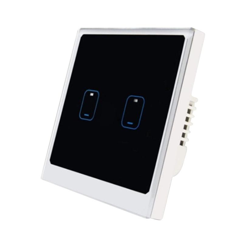 Smart Switches Eu Standard Ewelink App Remote Control Light Switch 2 Gang Smart Home Wifi Wall