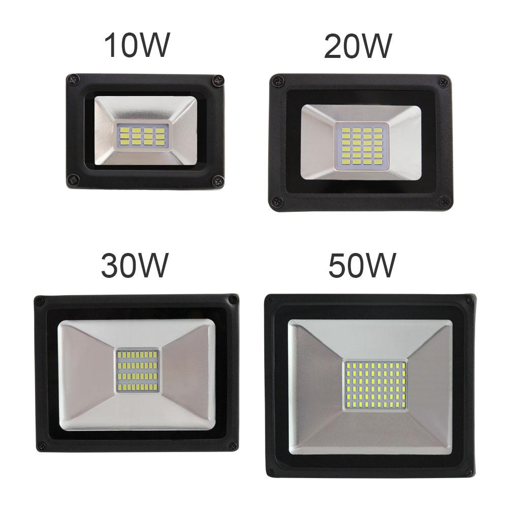 1 pz suya davamlı işıq proyektoru 10w 20w 30w 50W var refletor spot sel işıq lampası xarici düşərgə v 176- 264 v led