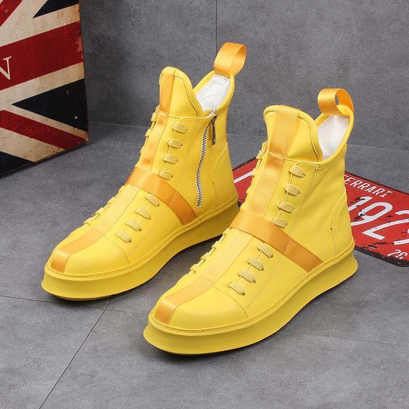 ERRFC 2019 Spring New high shoes men youth casual shoes Platform hip hop short boots Men