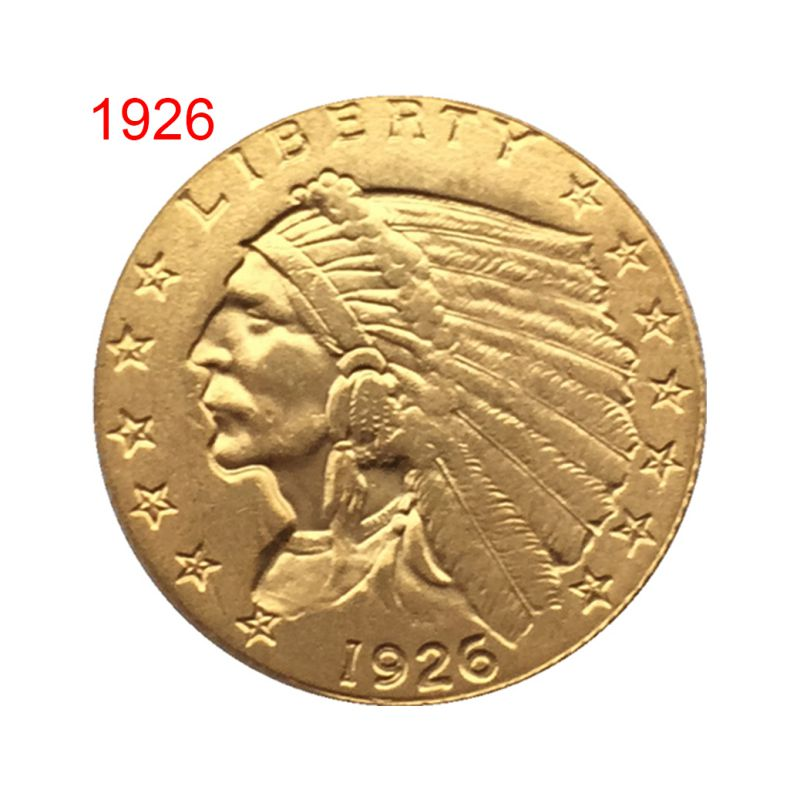1908/1926 Antique US Commemorative Old Coin Gold Plated Collectible Coin Crafts Art Souvenir Toys