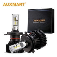 Auxmart Car LED Headlight H4 H13 HB4 HB3 H11 H7 9005 9006 Head Lamp 50w Set