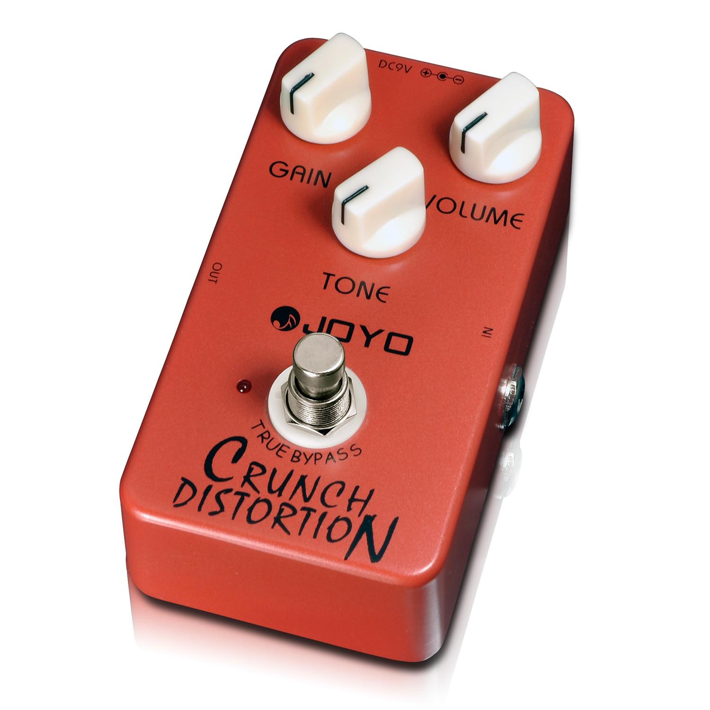 Joyo JF-03 Crunch Distortion Electric Guitar Effect Pedal True Bypass JF 03 joyo jf 39 deluxe crunch overdrive guitar pedal effect true bypass red