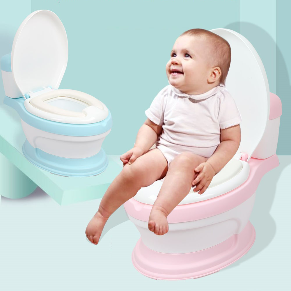Factory Sale Simulation Mini Toilet Infant Pony Potty Seat Portable Toilet Training Urinal For Free Potty Brush+cleaning Bag