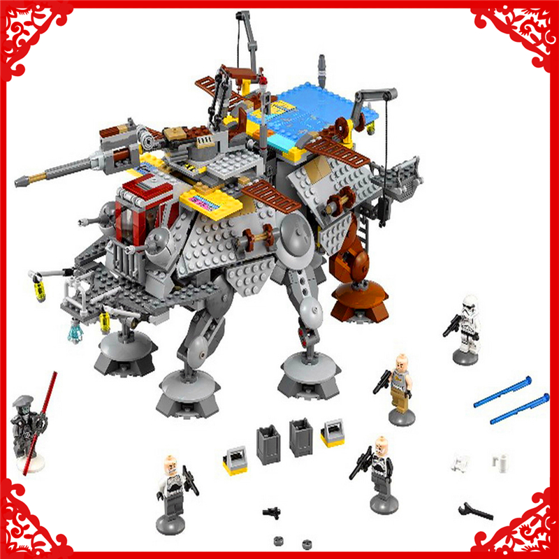 LEPIN 05032 Star Wars Rex's AT-TE Model Building Block 1022Pcs DIY Educational Construction Assemble Toys For Children lepin 05032 star wars rex s at te model building kits compatible with lego city 3d blocks educational toys hobbies for children
