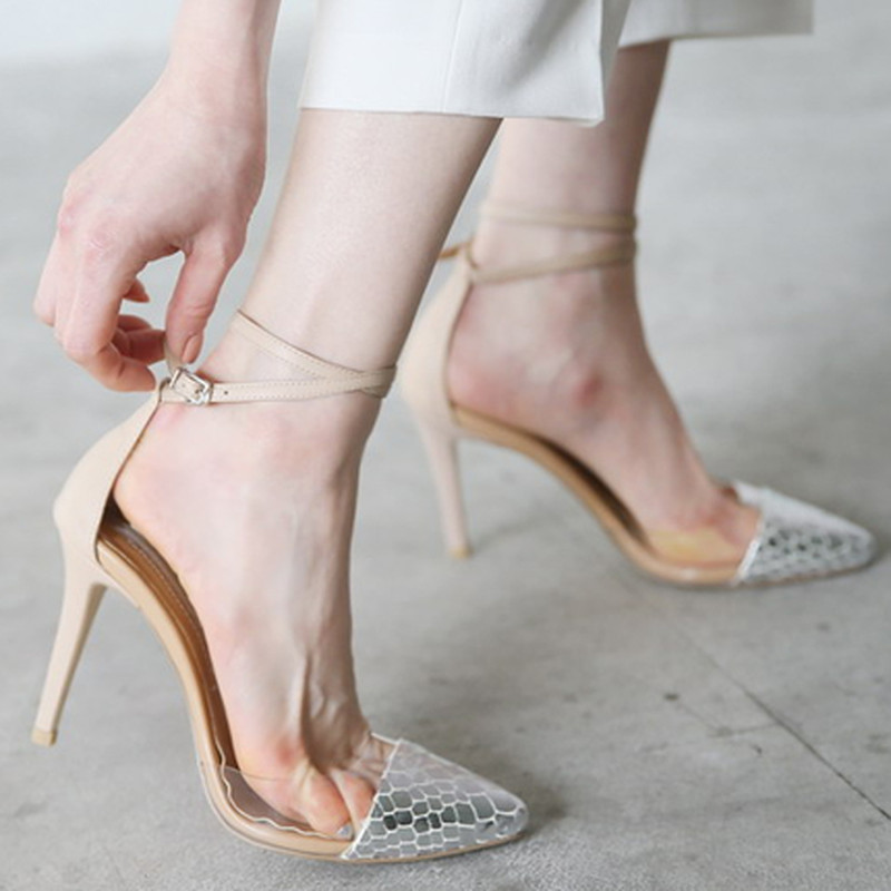 ФОТО Hot 2017 New Spring Summer Shoes Woman Cross Tied Shallow Pumps PVC Women Pumps Concise Party Dress Shoes Mujer Women Shoes Sexy