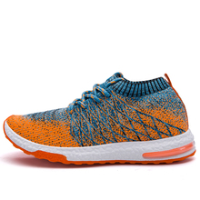 2017 New Flying woven sneakers Men's Running Shoes Summer breathable mesh Sport Shoes Technology Breathable Light Walking Shoes