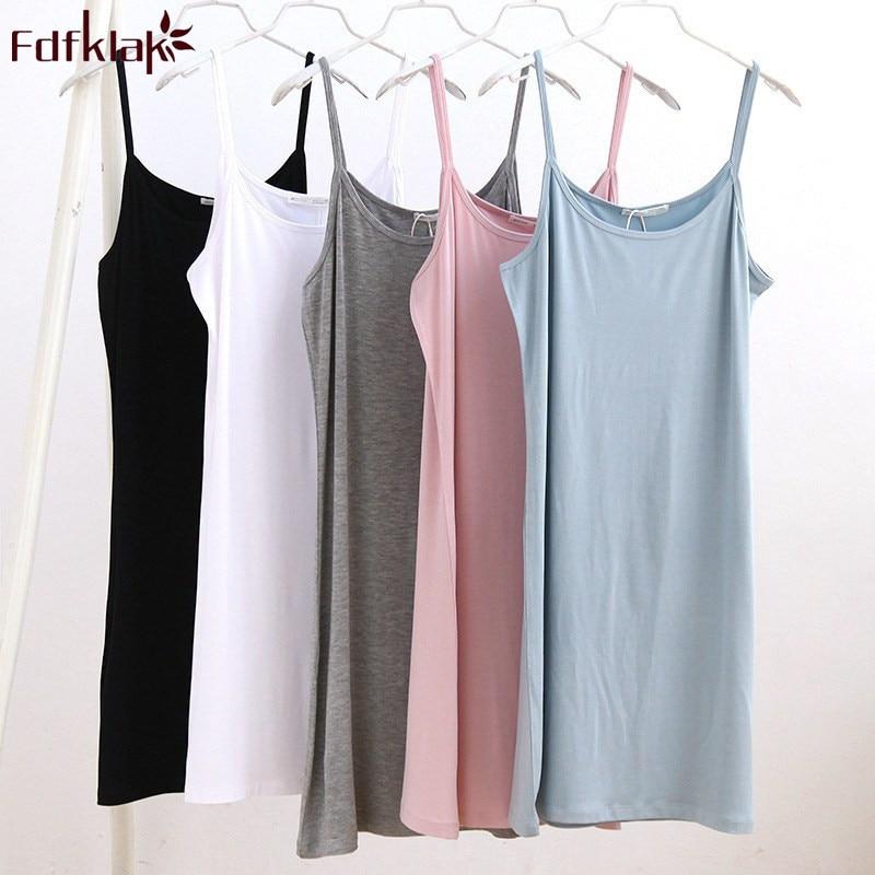Fdfklak Sexy spaghetti strap sleepwear for women night dress female nightwear nightdress summer   nightgowns   women   sleepshirt