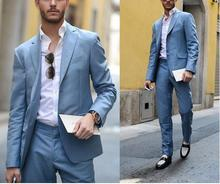 MS28 2017 New Fashion Custom Made Bridegroom Men's Business Suits Blazer Wedding Men Slim Fit Tuxedo Jacket+Pants