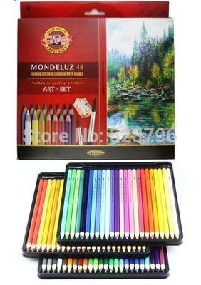 Koh-i-noor Mondeluz Aquarell Art Drawing Oil Base Non-toxic Professional Drawing Set. 72 Colored Pencils Water Color PencilsKoh-i-noor Mondeluz Aquarell Art Drawing Oil Base Non-toxic Professional Drawing Set. 72 Colored Pencils Water Color Pencils