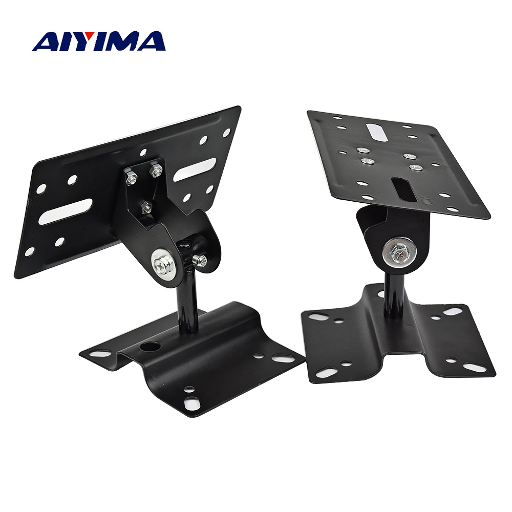AIYIMA 2 Pair HIFI Speaker Stand Wall Mounted Audio Bracket Hook Speakers Hanger Repair Parts Accessories DIY For Home Theater