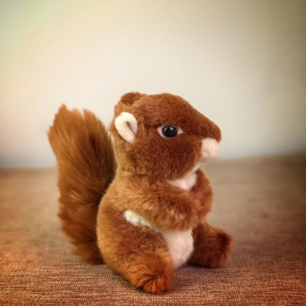 Original Cute Red Squirrel Simulative Wild Animal Soft Stuffed Plush Toy Doll Birthday Gift Children Baby Gift