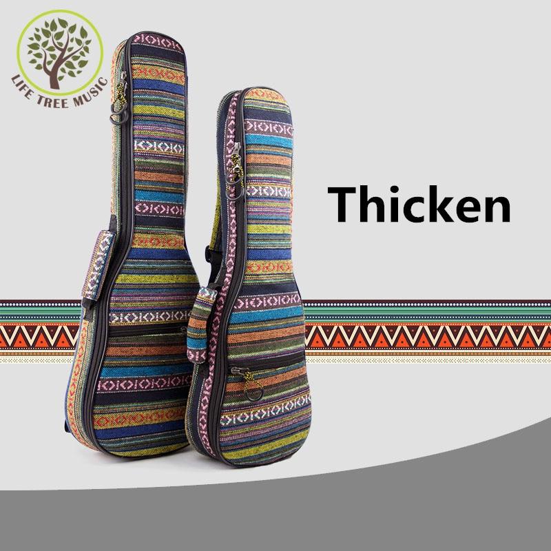 Thicken Soprano Concert Tenor Ukulele Bag Case Backpack 21 23 26 Inch Ukelele Beige Mini Guitar Accessories Parts Gig