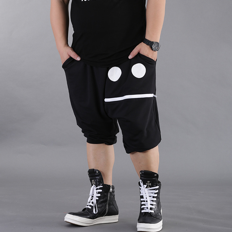 Mens Plus Size 7XL 8XL Summer Low Drop Crotch Shorts New Hip Hop Baggy Harem Shorts  Sweat Shorts Loose Skateboard  Shorts