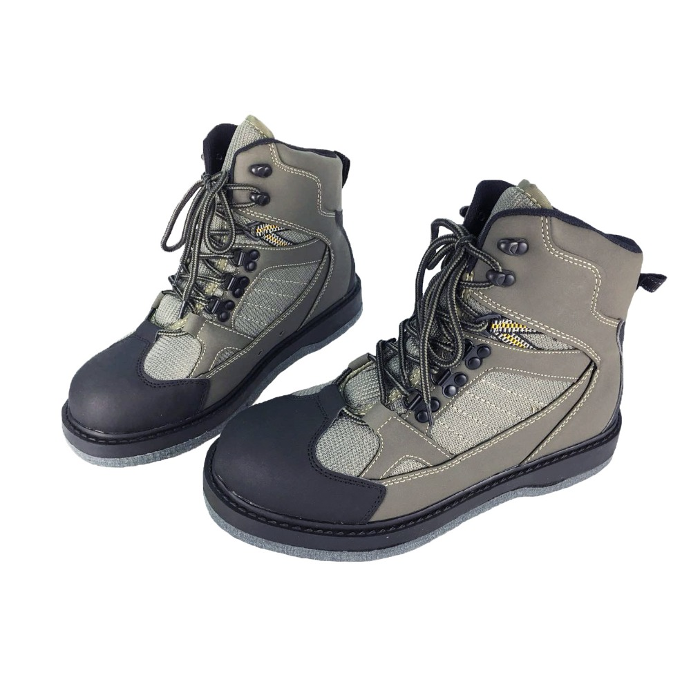 70e19717d14b55 Fly Fishing Waders Outdoor Hunting Upstream Shoes Leaking Water Shoe Felt  Anti-Slippery Sole Leather