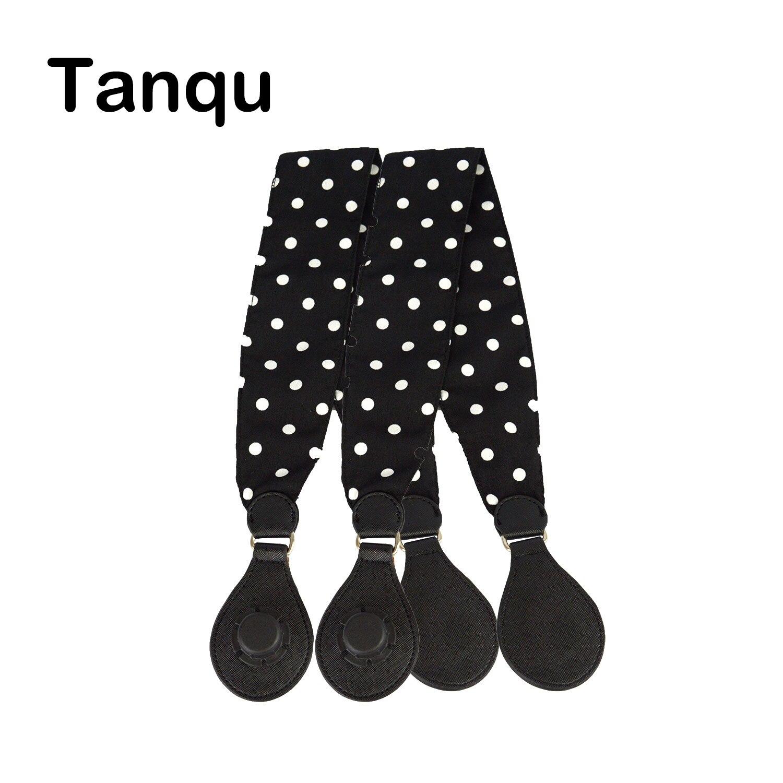 Tanqu 1 Pair Soft Floral Fabric Handle With Drop End For Bag O Bag Handles For EVA Obag Handbag Women's Bags