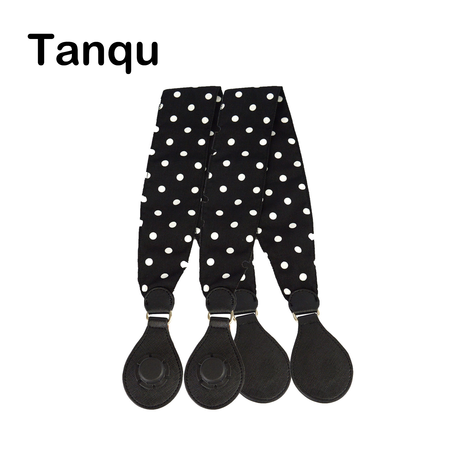 Tanqu 1 Pair Soft Floral Fabric Handle with Drop End for Bag O Bag Handles for EVA Obag Handbag Women's Bags tanqu diamond shaped variable handle for obag long adjustable handles with drop buckle for o bag for eva bag body