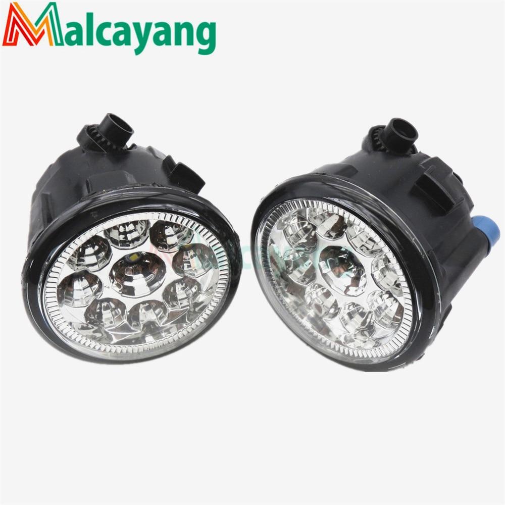 1 SET (Left + right) Car Styling Front LED Fog Lamps Fog Lights 26150-8990B For NISSAN JUKE 2010-2015 for lexus rx gyl1 ggl15 agl10 450h awd 350 awd 2008 2013 car styling led fog lights high brightness fog lamps 1set