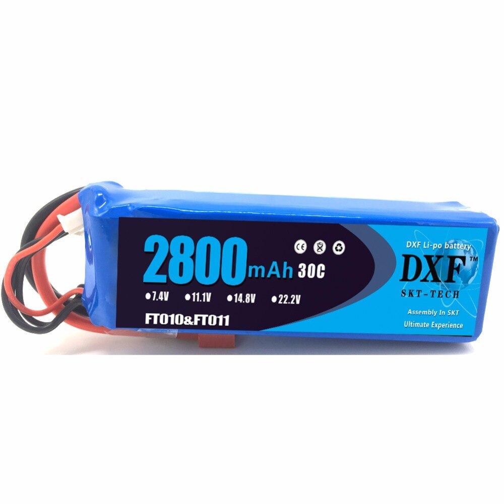 Хорошее качество DXF 1 шт. RC Lipo Батарея 14,8 В 2800 мАч 30C для FT010 FT011 RC лодка RC вертолет Quadcopter